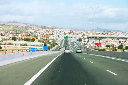 limassol: Road in Limassol,Cyprus.