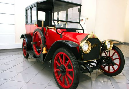 Old school car calls the 1917 the first production car built in Japan.   photo