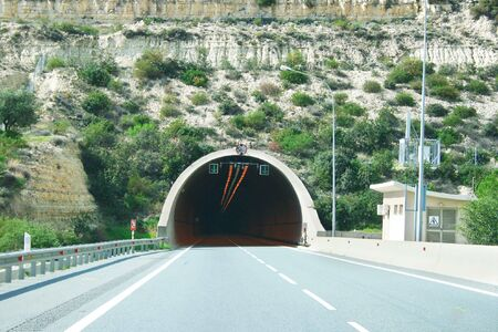 Road going to the tunnel.