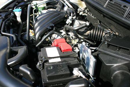 New car powerful engine. photo
