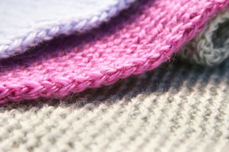 Colorful knitwear as a background.