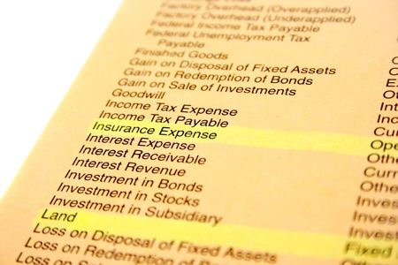 Banking and finance document,yellow paper.