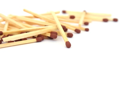Matches isolated on white background. photo