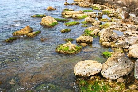 Mediterranean sea peaceful scene. photo