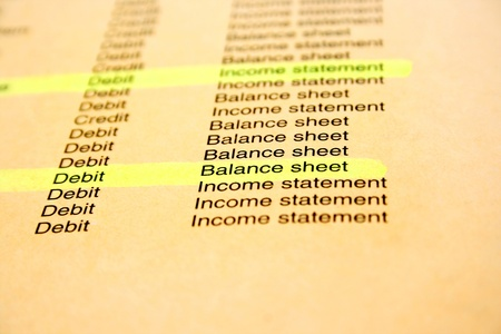 Banking and finance document, pink paper. photo