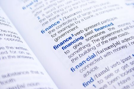 thesaurus: The word finance and financial in dictionary.