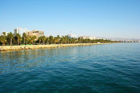 limassol: Mediterranean sea at Limassol city,Cyprus. Stock Photo