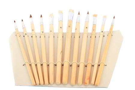 Set of painting brushes isolated on white background. Stock Photo - 9818801