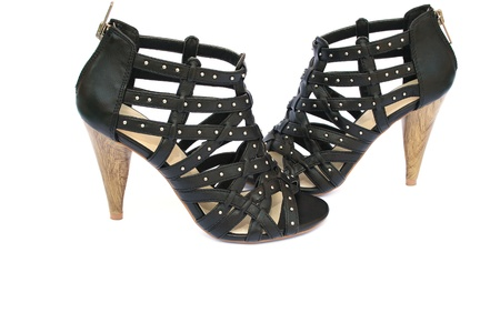 womanish: Womanish shoes isolated on white background.