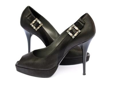 Womanish shoes isolated on white background. Stock Photo - 10045880
