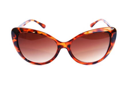 Brown sunglasses isolated on white background. Standard-Bild