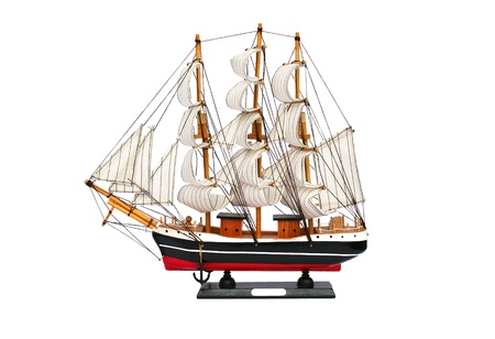 Ship model isolated on white background.