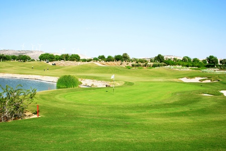Golf field in Cyprus. photo
