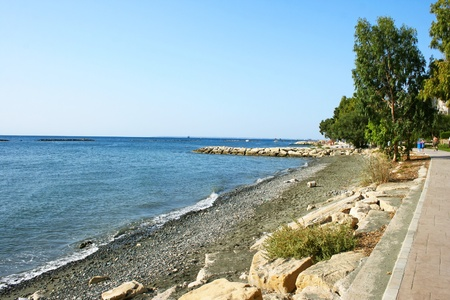 Cyprus landscape, Mediterranean sea coastline. photo