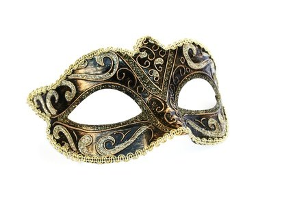 traditional costume: Carnival mask isolated on white background.