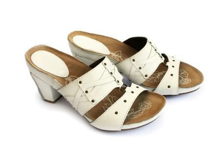 Womanish shoes isolated on white background. Stock Photo - 12235226
