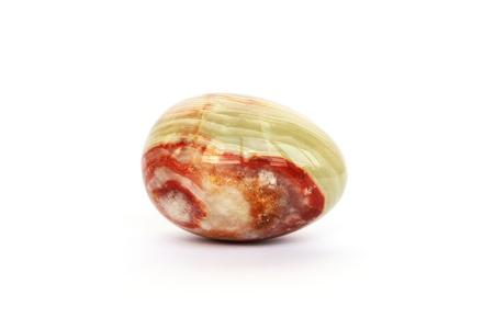 Onyx egg isolated on white background. photo