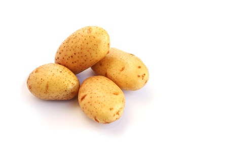 Potatoes isolated on white background. photo