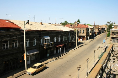 Old town street in Gyumri, Armenia  photo