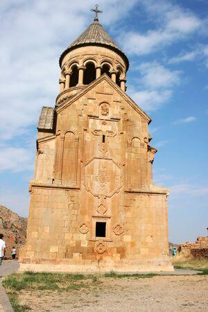 Noravank monastery in Armenia, red rocky mountains  photo