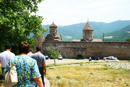 Tatev monastery in Armenia, the 9th century architecture  photo