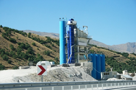 Movable concrete mixer plants in Turkey. photo