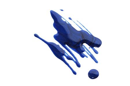 polish: Spilled nail polish isolated on white background.