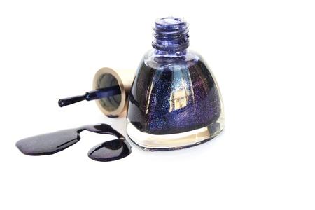 Spilled nail polish isolated on white background. Stock Photo - 13506618