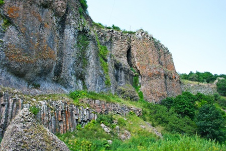 Landscape  with rocks,  mountains  in Armenia. photo