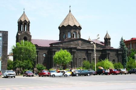 Black church in Gyumri, Armenia  photo