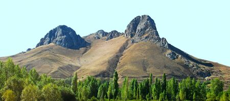 Landscape with mountains and trees in Turkey. photo