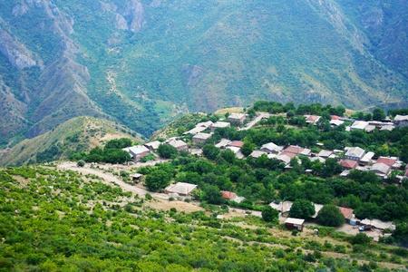Mountain village Halidzor view fron altitude in Armenia. Stock Photo - 13596872