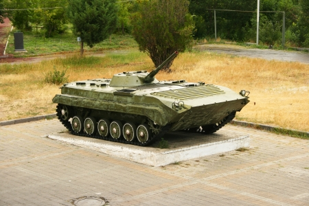 amphibious: Old BMP-1  in Victory park, Yerevan, Armenia. Stock Photo