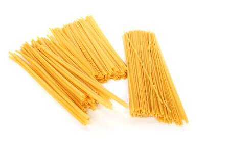 Italian pasta isolated on white background. photo