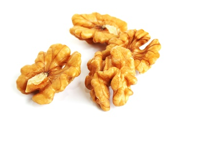Walnuts isolated on white background. photo