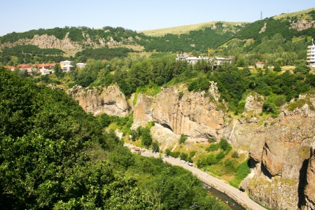 Landscape in Armenian mountain city Jermuk  photo