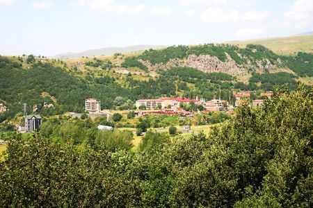 Landscape in Armenian mountain city Jermuk. photo