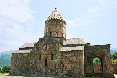tatev: Tatev monastery in Armenia, the 9th century architecture  Stock Photo