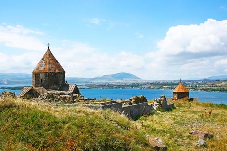 The 9th century Armenian monastery of Sevanavank at lake Sevan. photo