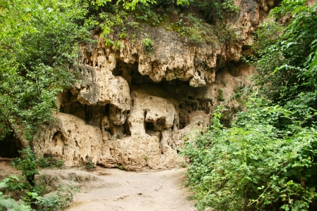 Caves at Devil  bridge natural monument in the Syunik region of Armenia. Stock Photo - 14098743