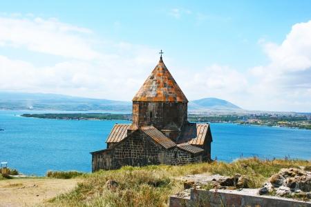 apostolic: The 9th century Armenian monastery of Sevanavank at lake Sevan. Stock Photo