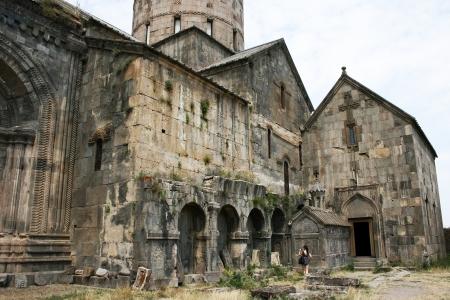 apostolic: Tatev monastery in Armenia, the 9th century architecture.