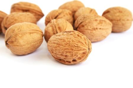 Walnuts isolated on white background. photo