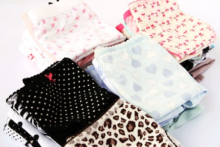 undies: Colorful panties  on gray background.