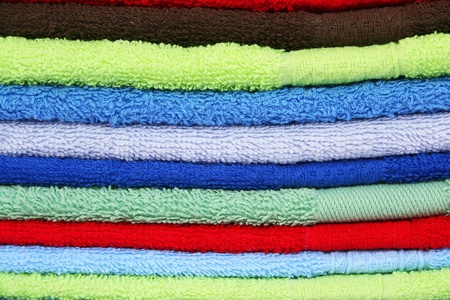 Colorful towels as a background. photo