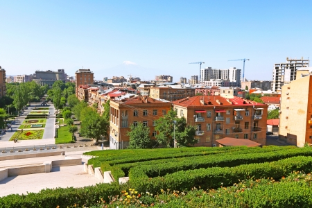Yerevan city view from altitude. Stock Photo - 16539269