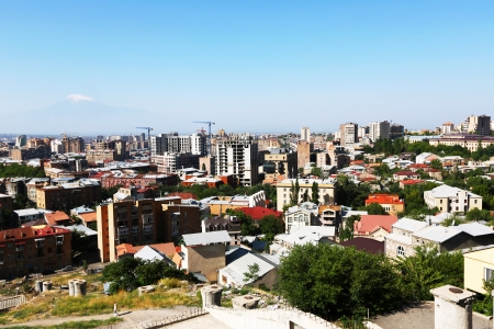 Yerevan city view from altitude  Stock Photo - 17035236
