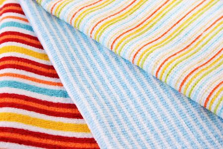 Three colorful towels as a background  photo