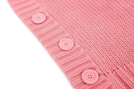 Buttons on pink sweater. photo