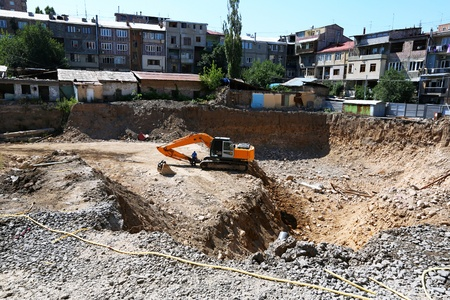 Construction site in Yerevan city, Armenia. photo